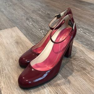 Kate Spade patent leather round toe pumps